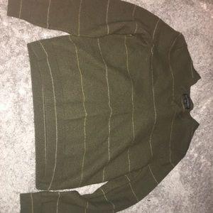 Green stripe sweater